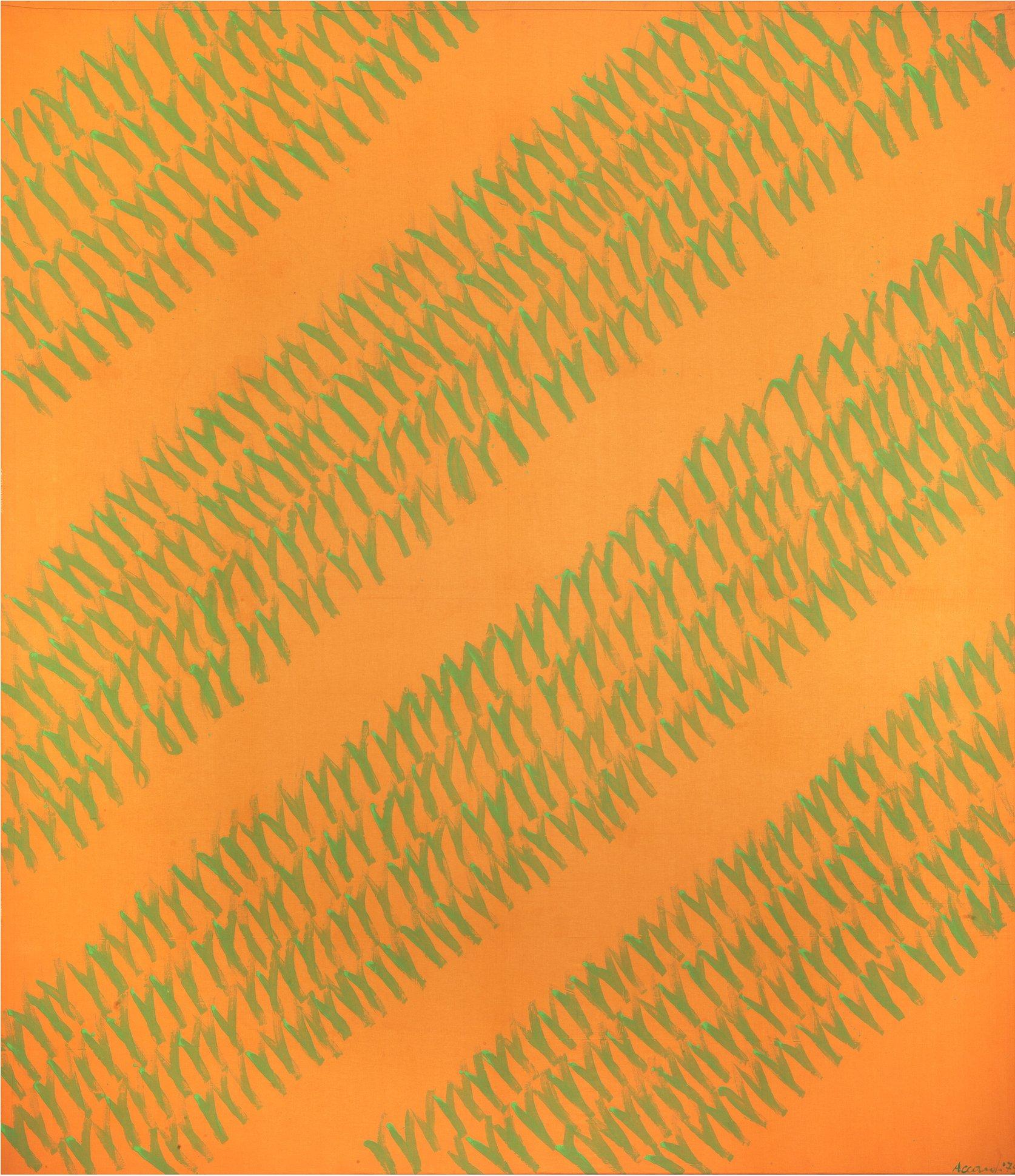 Accardi, Arancioverde (Lenzuolo), 1972-76, 280x230 cm