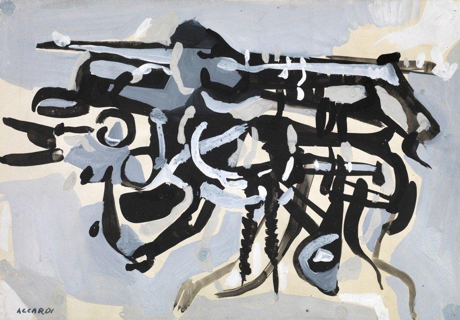Accardi, Senza titolo, 1954, 35x50 cm