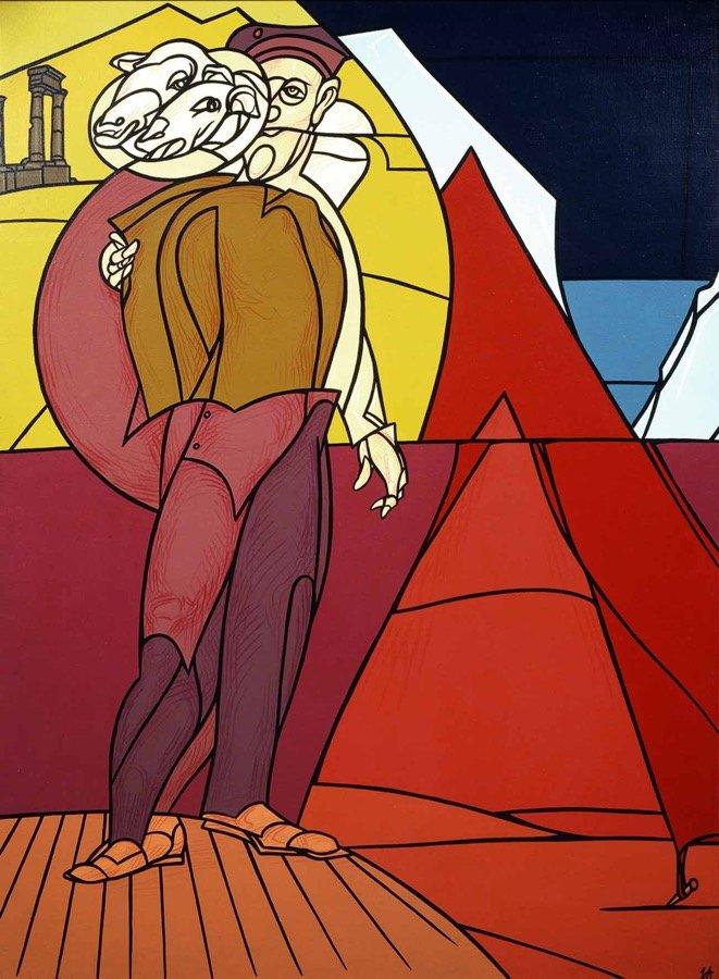 Adami, La recita, 1991, 198x146 cm