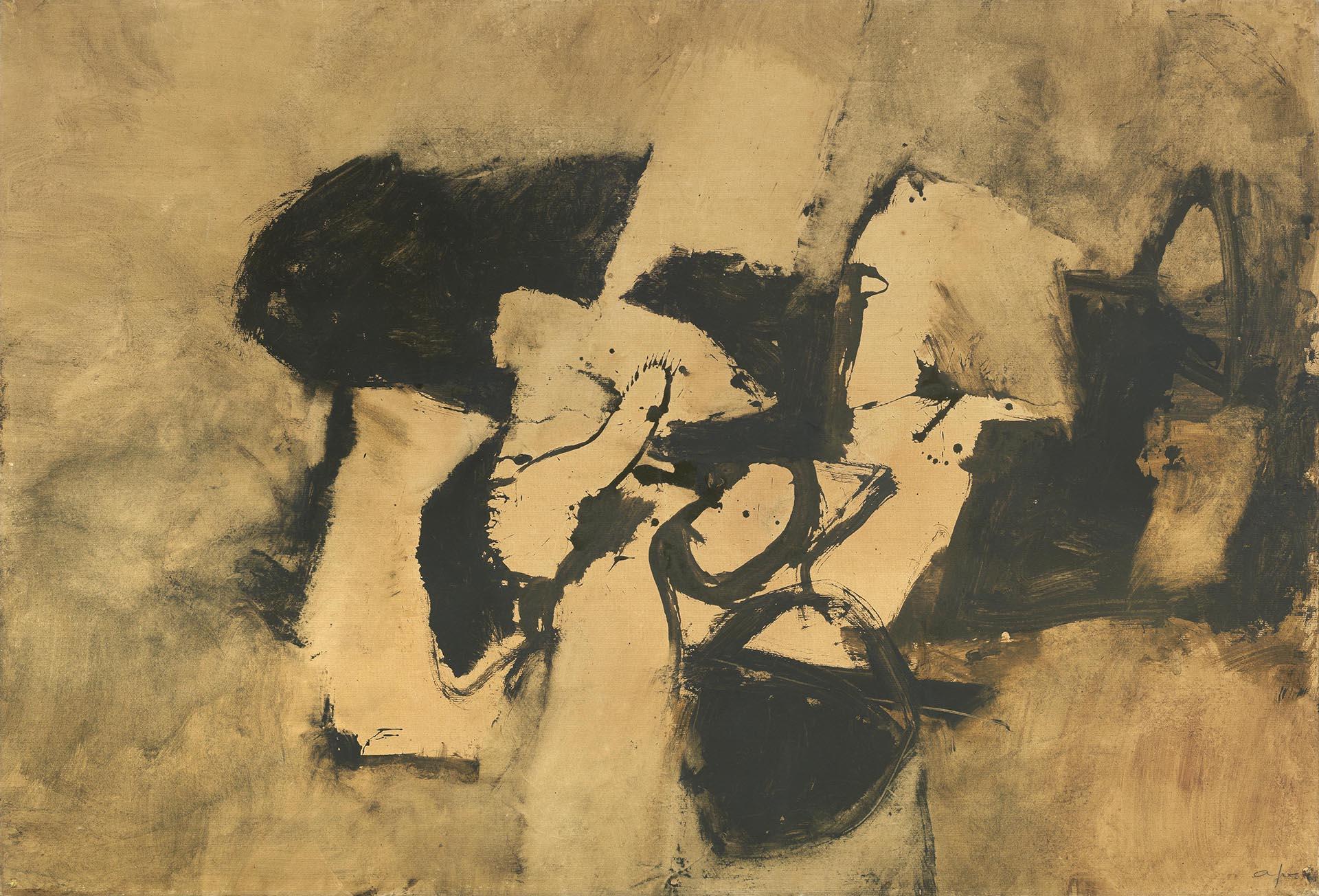 Afro, Carta bruna n°2, 1966, 102x150 cm