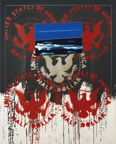 Angeli, Frammenti, 1979-82, 160x130 cm