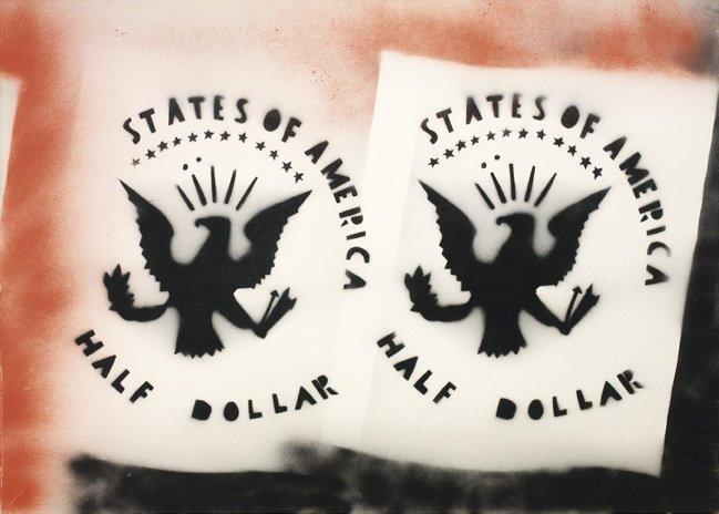 Angeli, Half dollar, 1975-78, 100x140 cm