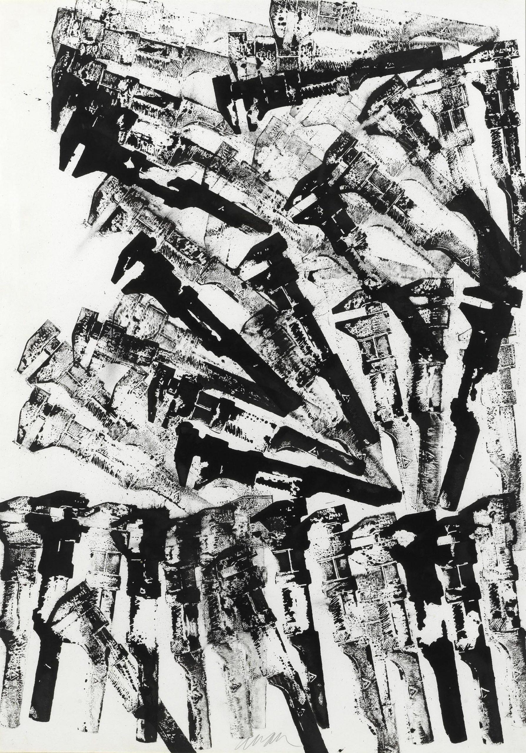 Arman, Sans titre, 1977, 105x76 cm