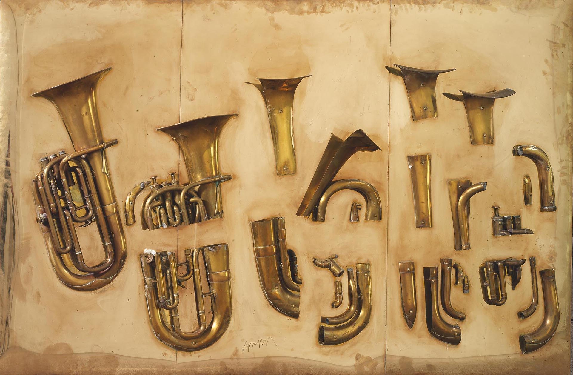 Arman, Sans titre, 2002, 116x185x24 cm