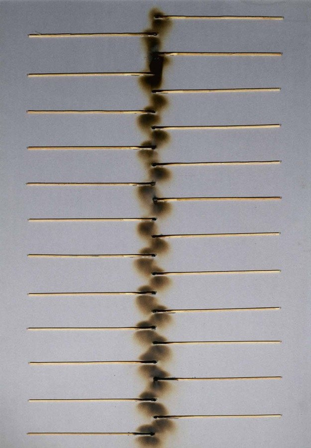 Aubertin, Dessin de feu, 1974, 100x70 cm