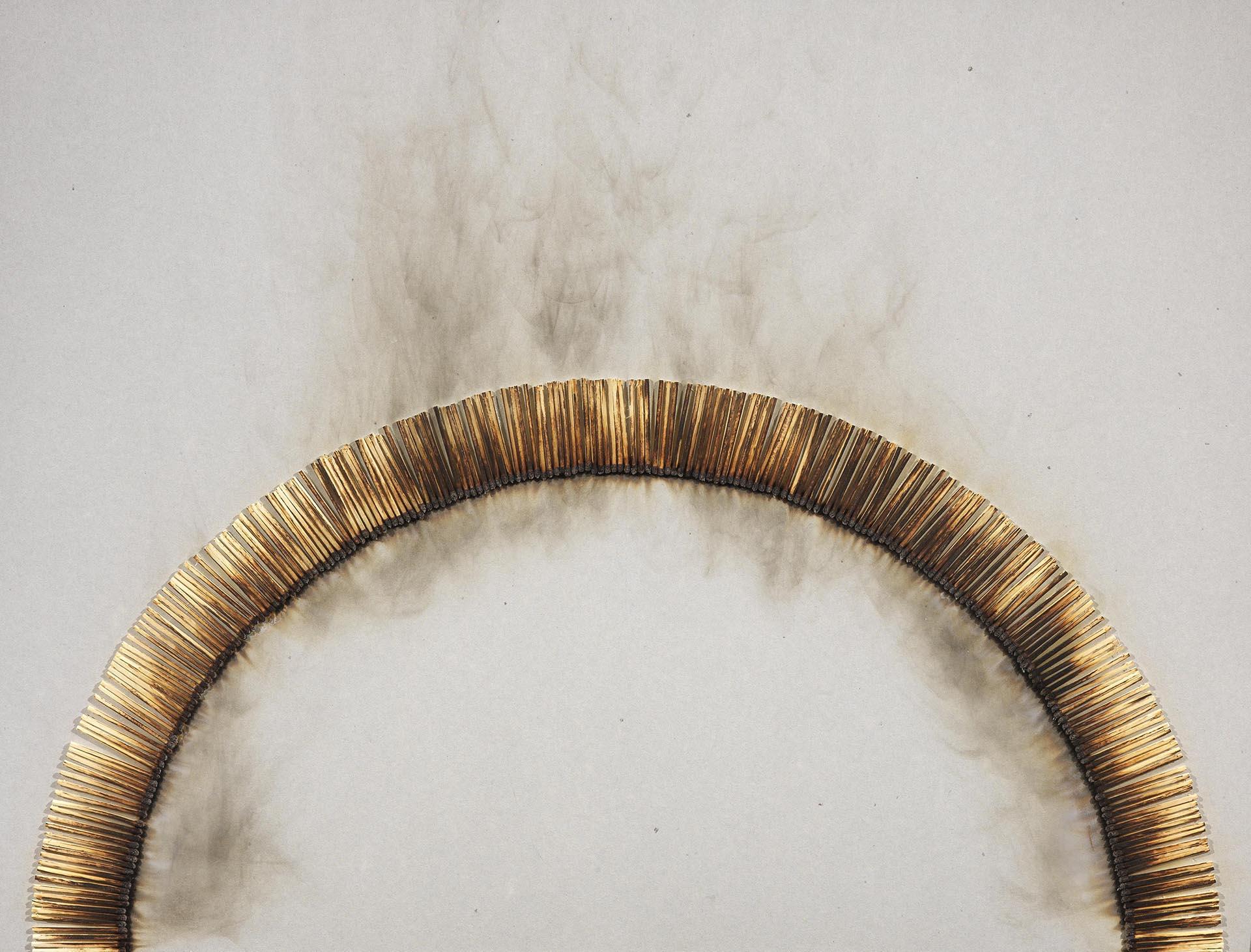 Aubertin, Dessin de feu, 1974, 50x65 cm