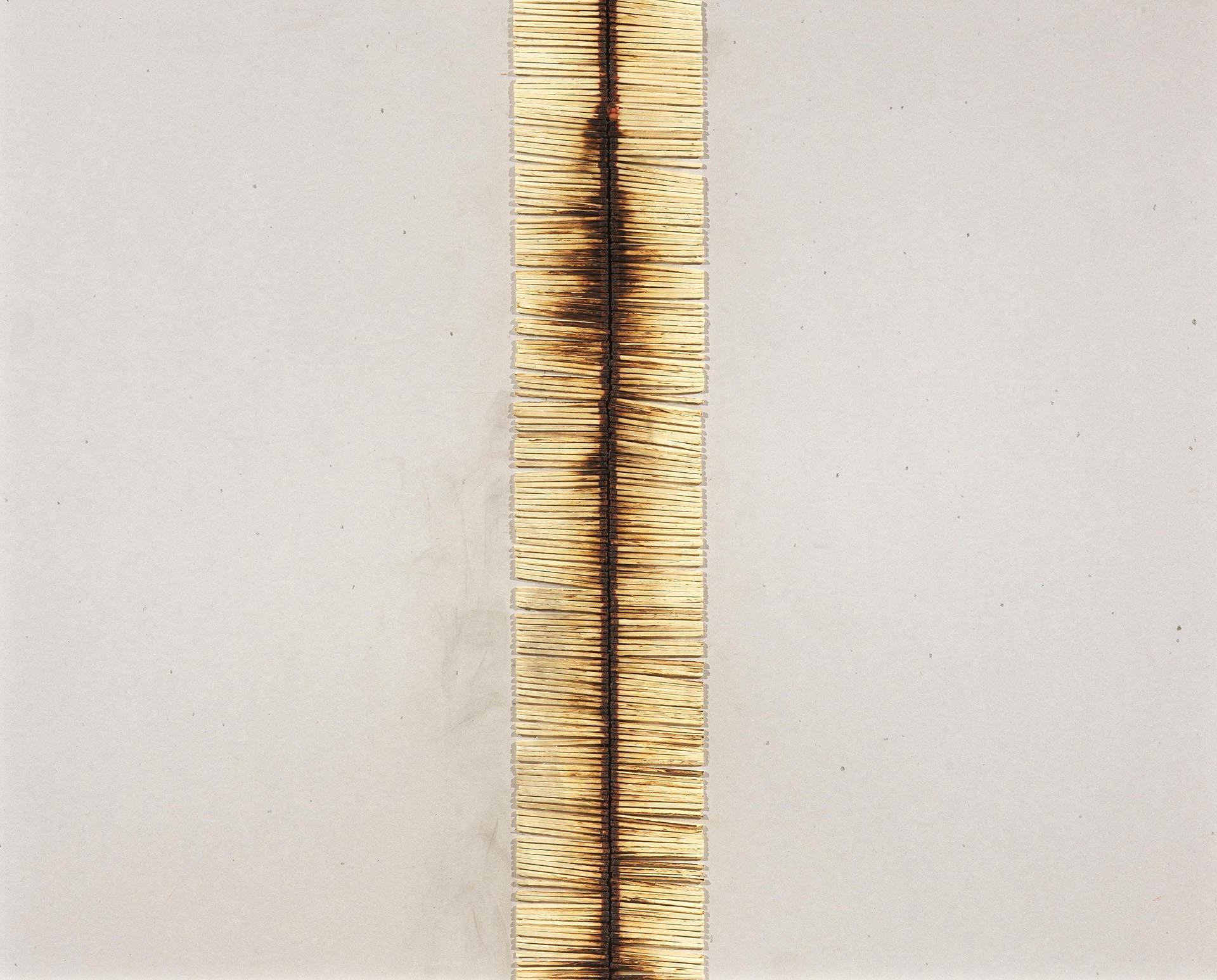 Aubertin, Dessin de feu, 1974, 51x65 cm