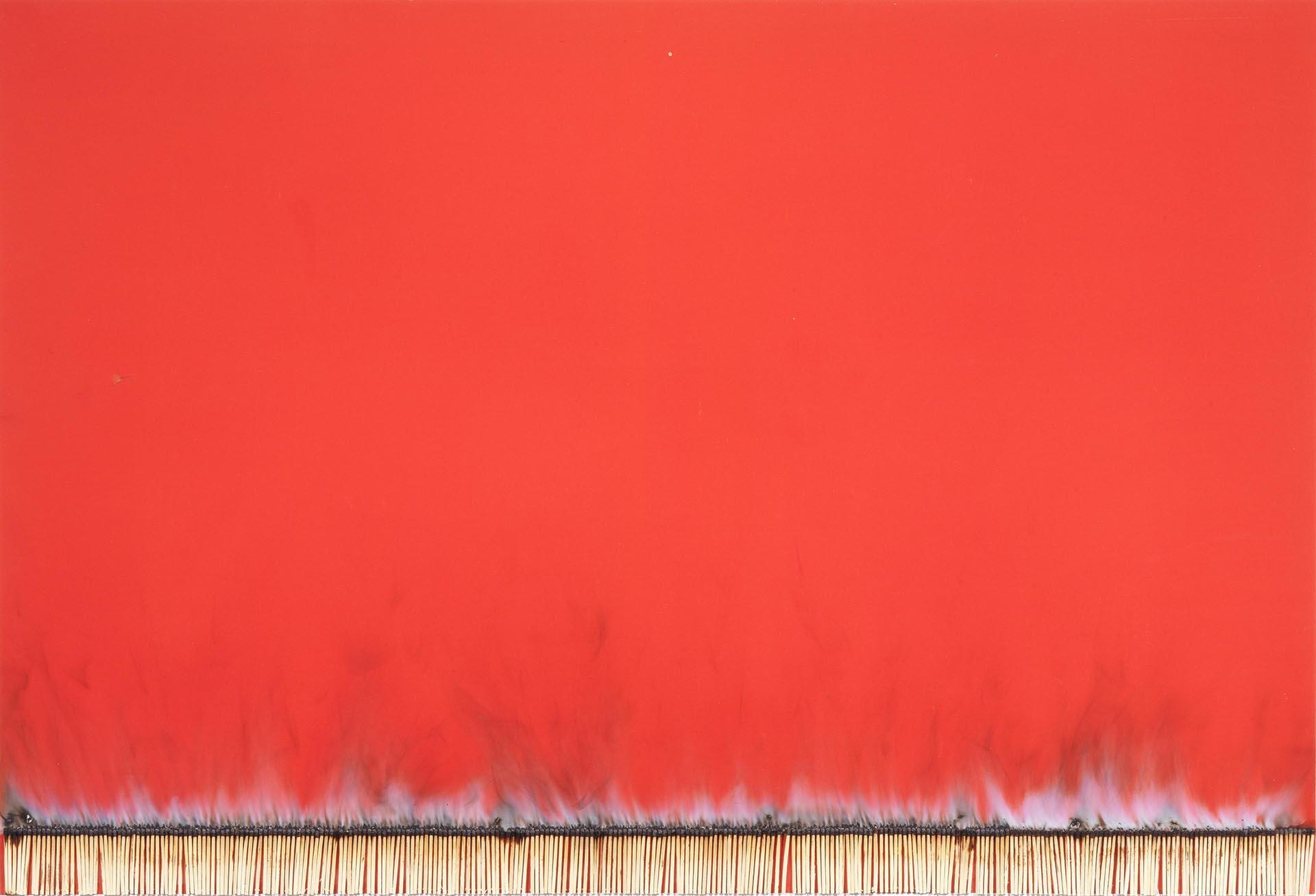 Aubertin, Dessin de feu, 1974, 65x95 cm