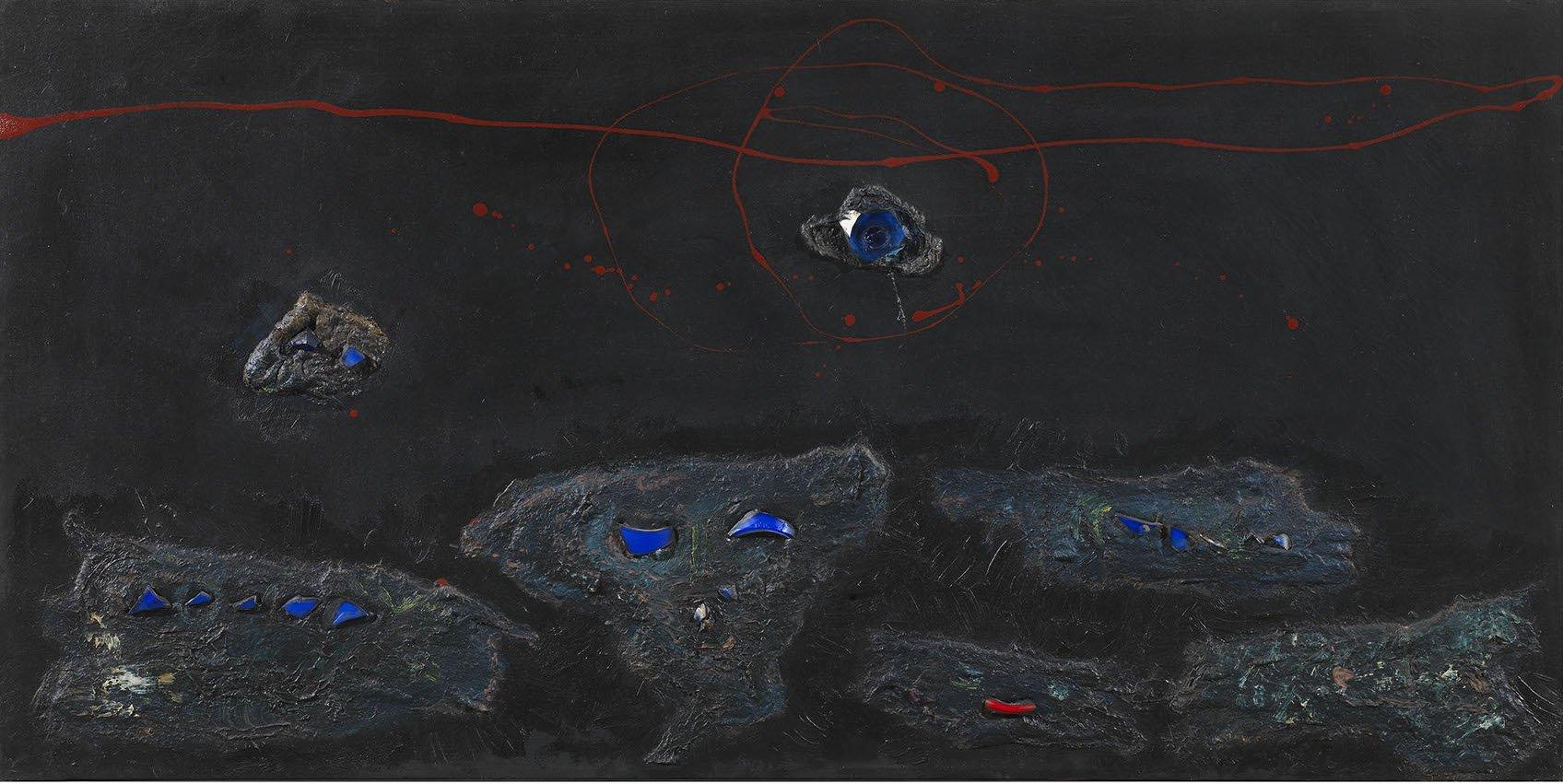 Baj, Figure, 1956, 60x120 cm