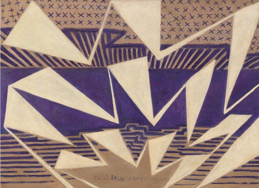 Balla, Paesaggio Astratto, 1981, 49,4x68,5 cm