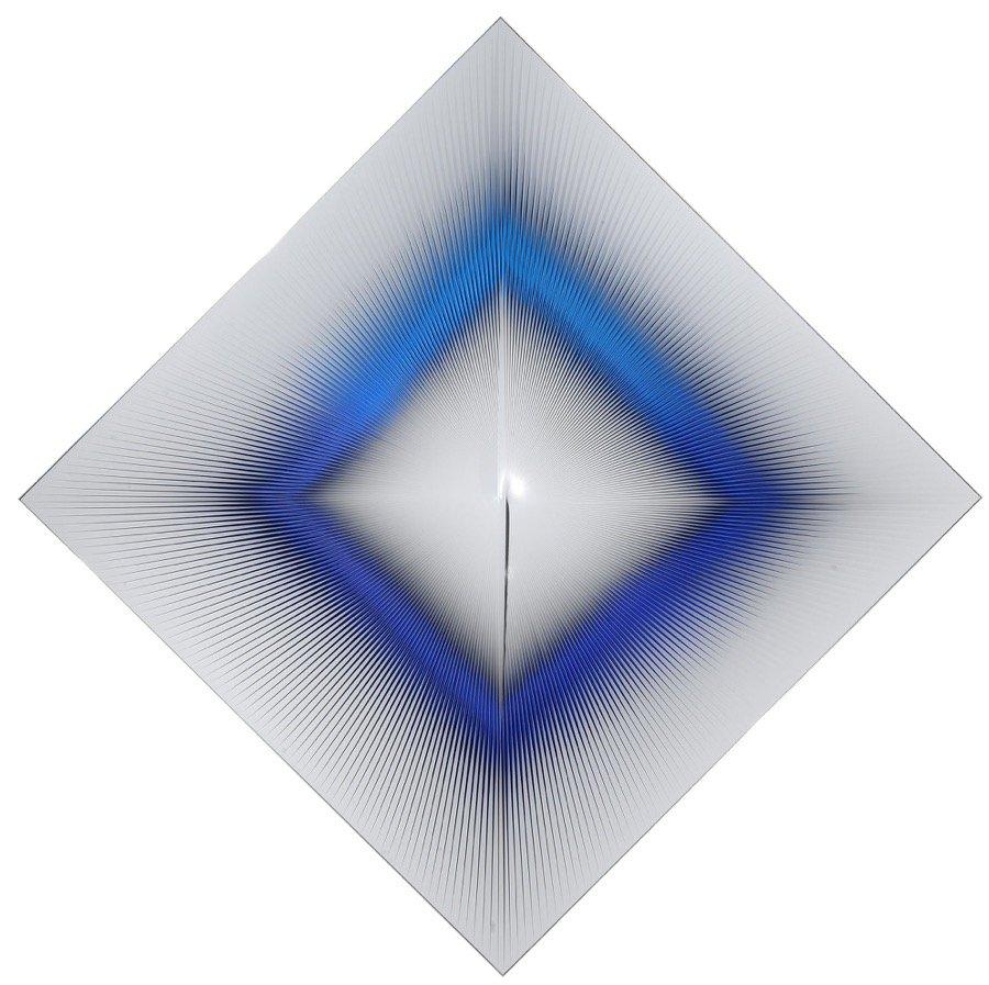 Biasi, A occhi aperti: si muove e cambia forma e colore, 2011, 185x185 cm