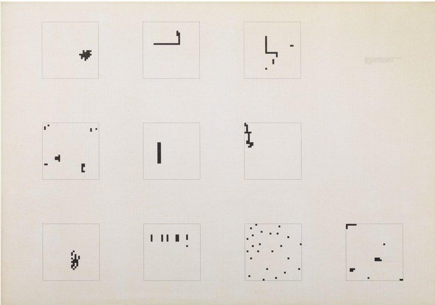 Boetti, Mille (32x32-24), 1974, 70x100 cm