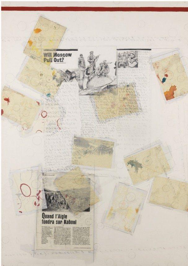 Boetti, Senza titolo (Primo lavoro dell'anno pensando all'Afghanistan), 1990, 100x70 cm