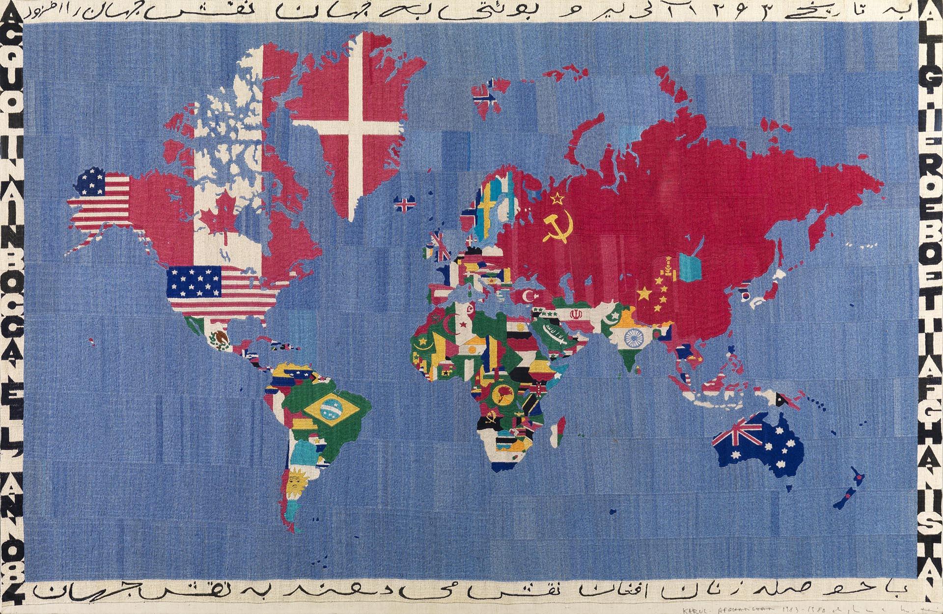 Boetti, Mappa, 1983-84, 116x178 cm
