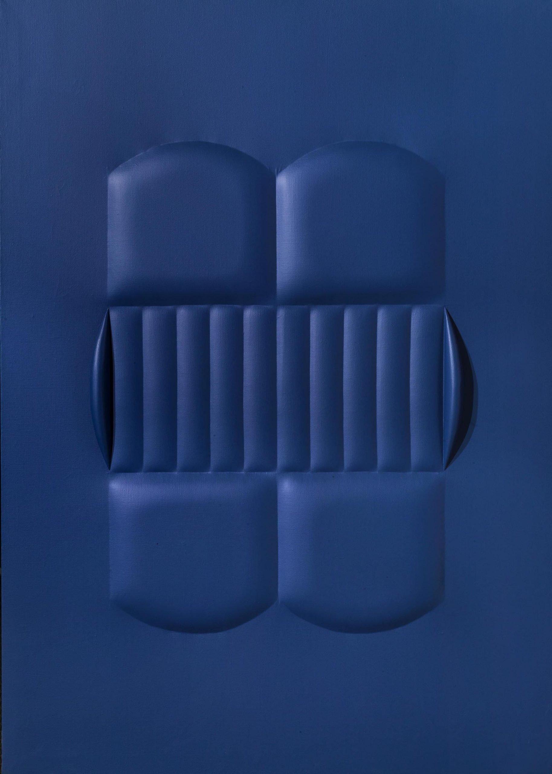 Bonalumi, Blu, 1964, 140x100 cm