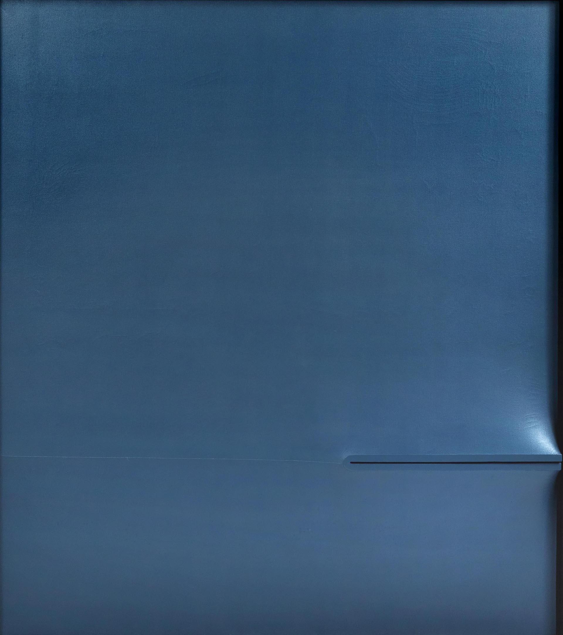 Bonalumi, Blu, 1972, 180x160 cm