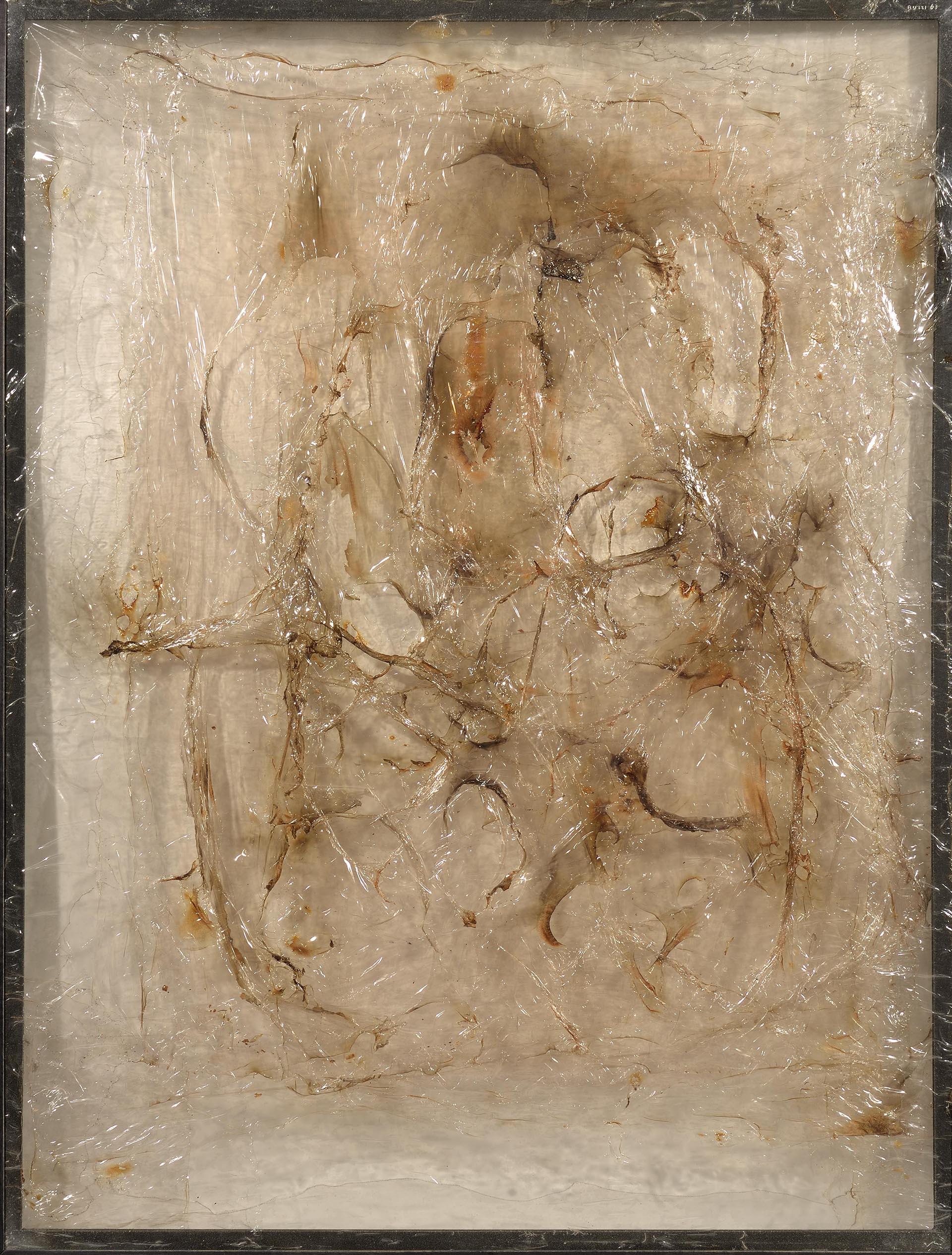 Burri, Plastica, 1973, 98x74 cm