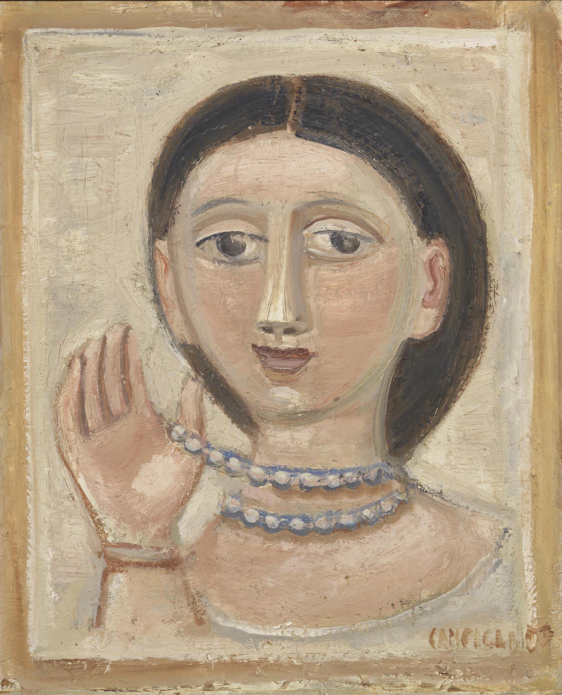 Campigli_Testa-di-donna-con-collana_1950_46x385-cm