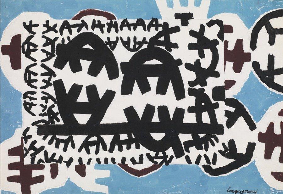Capogrossi, Superficie CP:930, 1958 ca., 35x49,5 cm