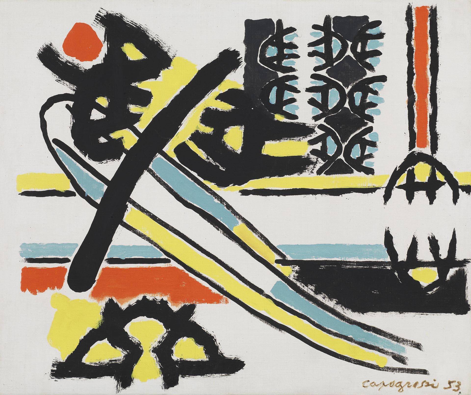 Capogrossi, Superficie 29, 1953, 38x46 cm