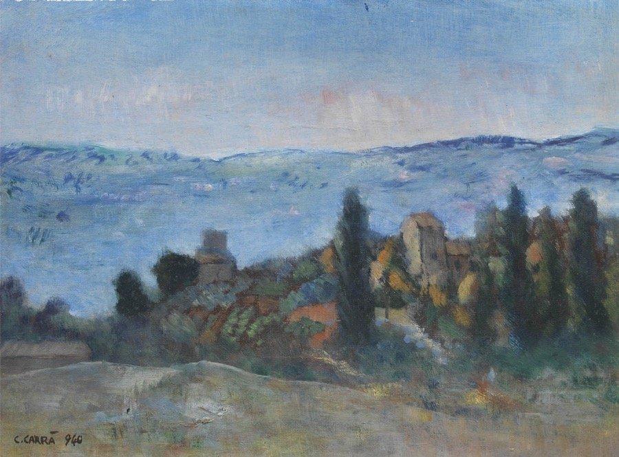 Carrà, Campagna di Assisi, 1940, 35x45 cm