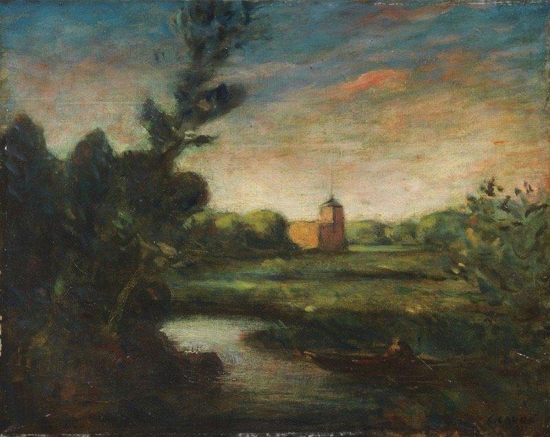 Carrà, Paesaggio, 1921, 40x50 cm