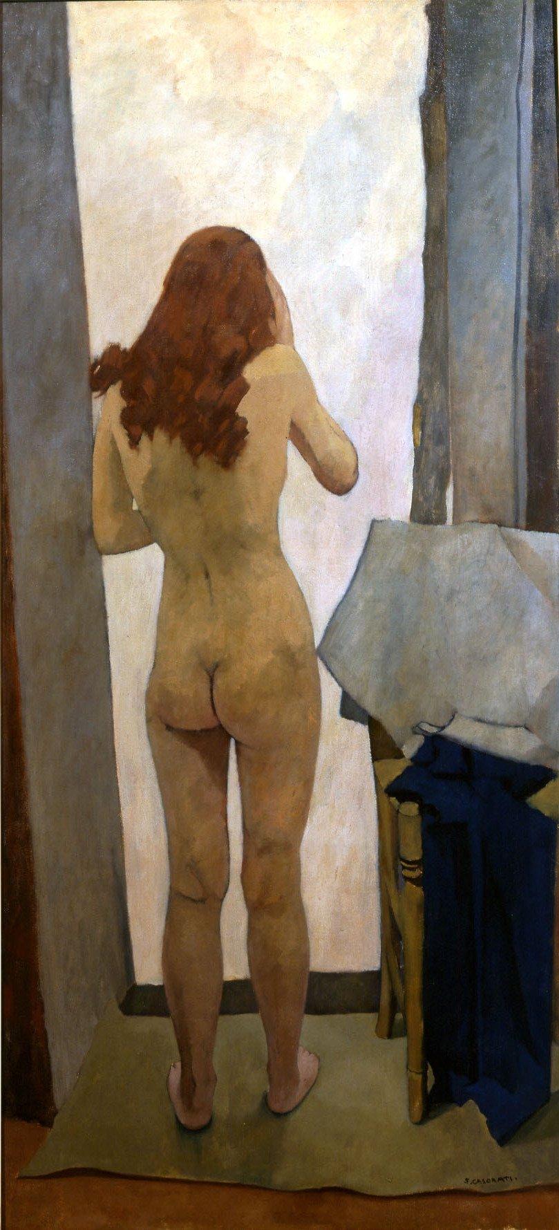 Casorati, Nudo di schiena, 1939, 160x74 cm