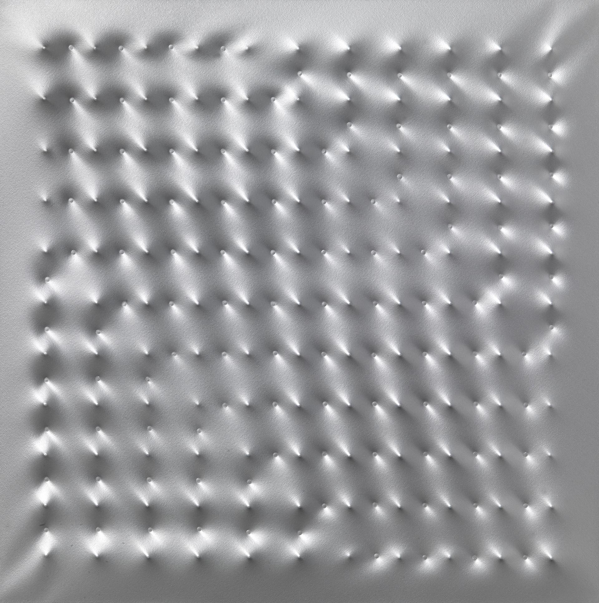 Castellani, Superficie alluminio, 2005, 100x100 cm