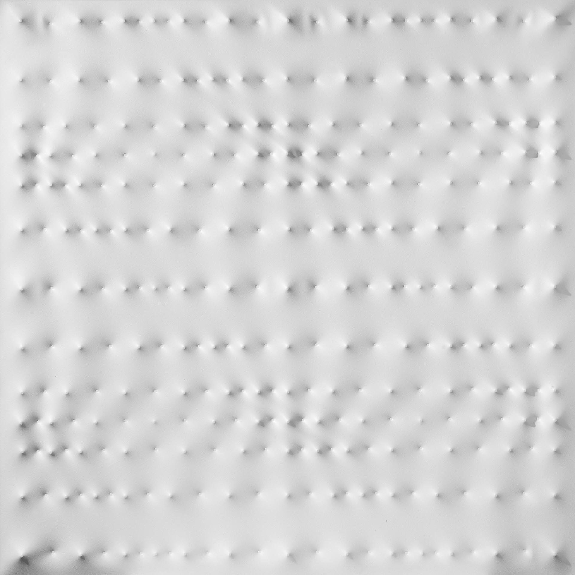 Castellani, Superficie bianca, 1990, 120x120 cm