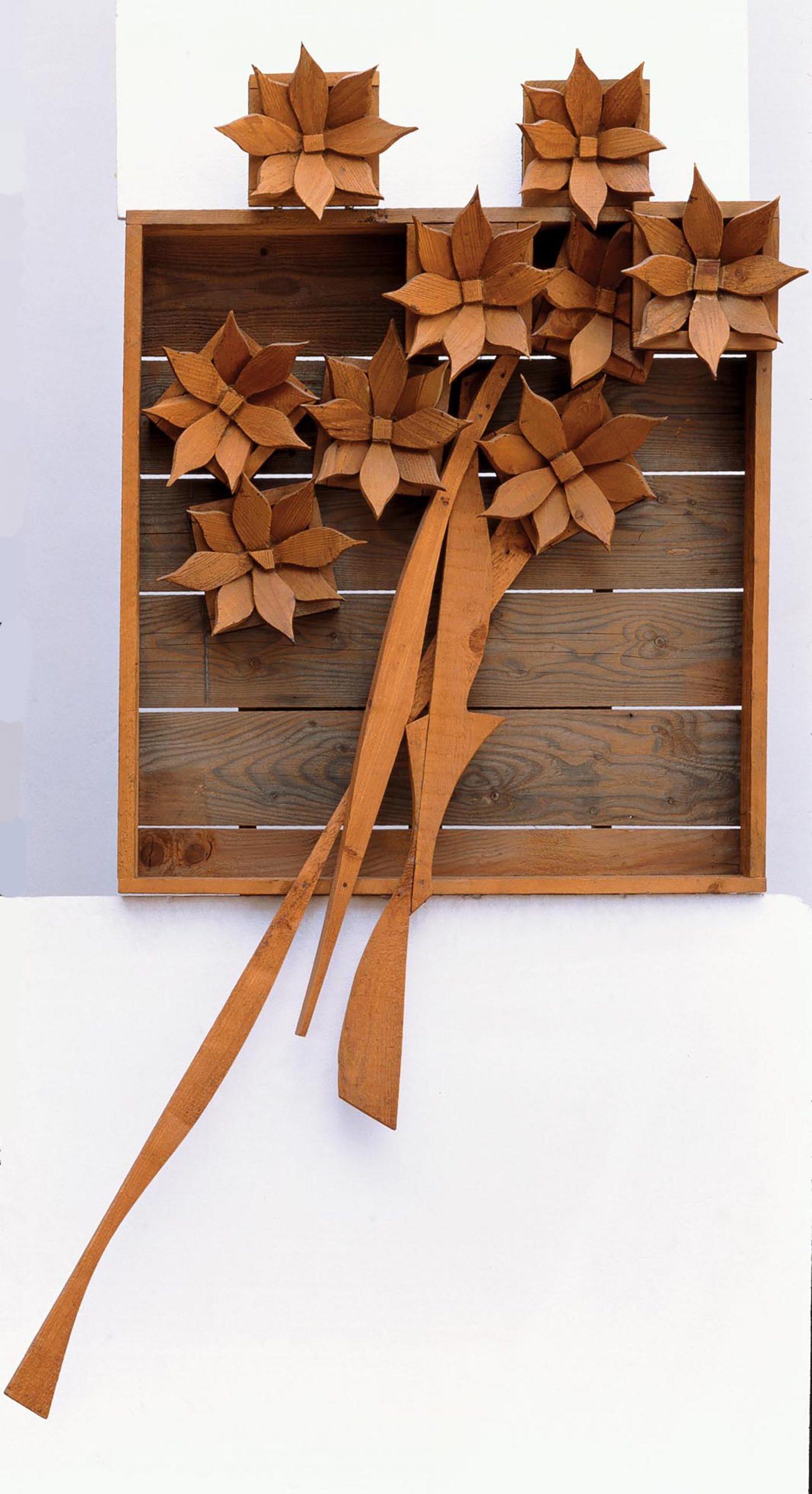 Ceroli, Fiori, 1965, 205x120x30 cm