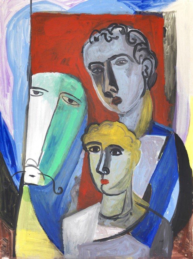 Chia, I viandanti, 1993, 137,5x102 cm