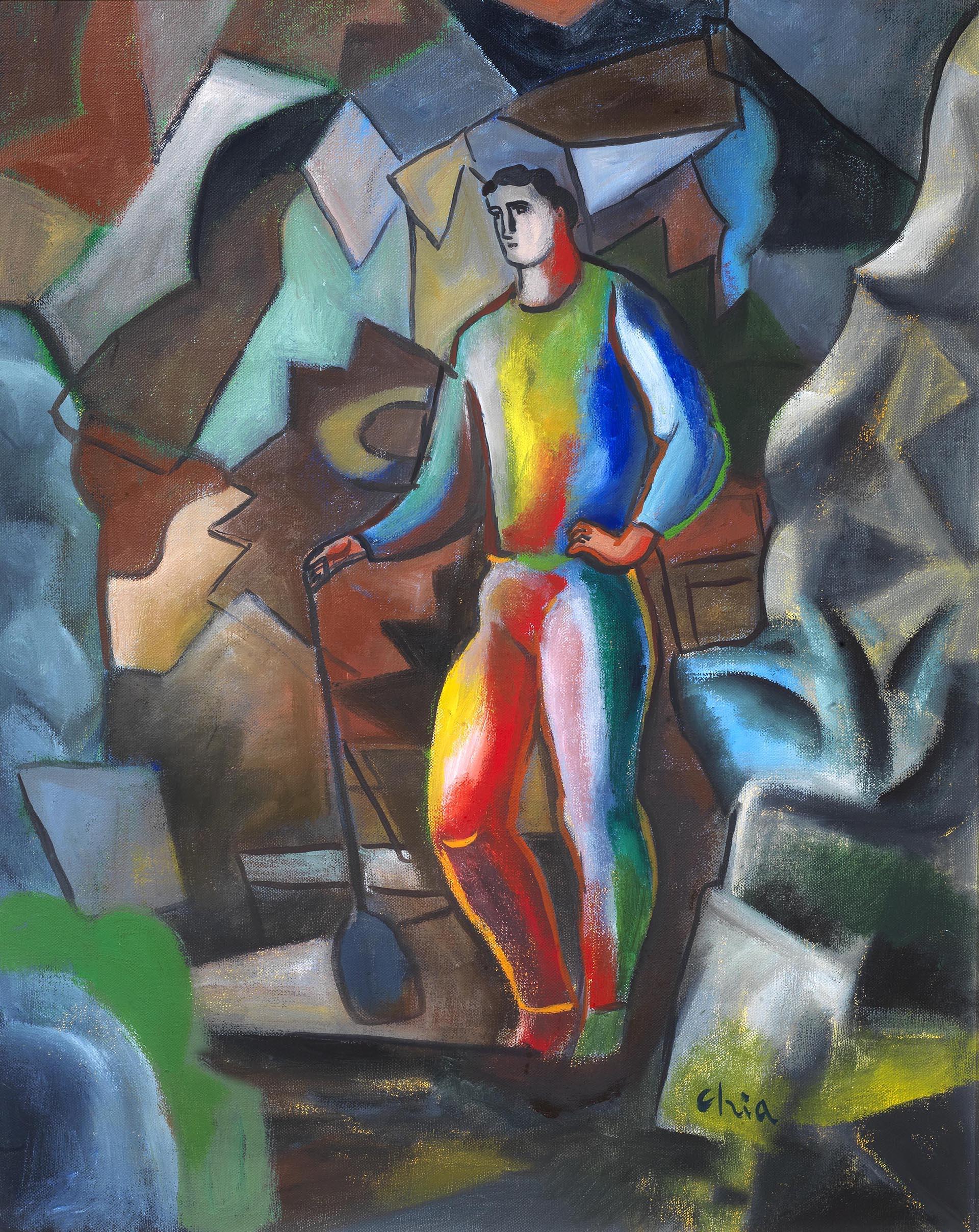 Chia, Al lavoro, 2005, 93x73 cm