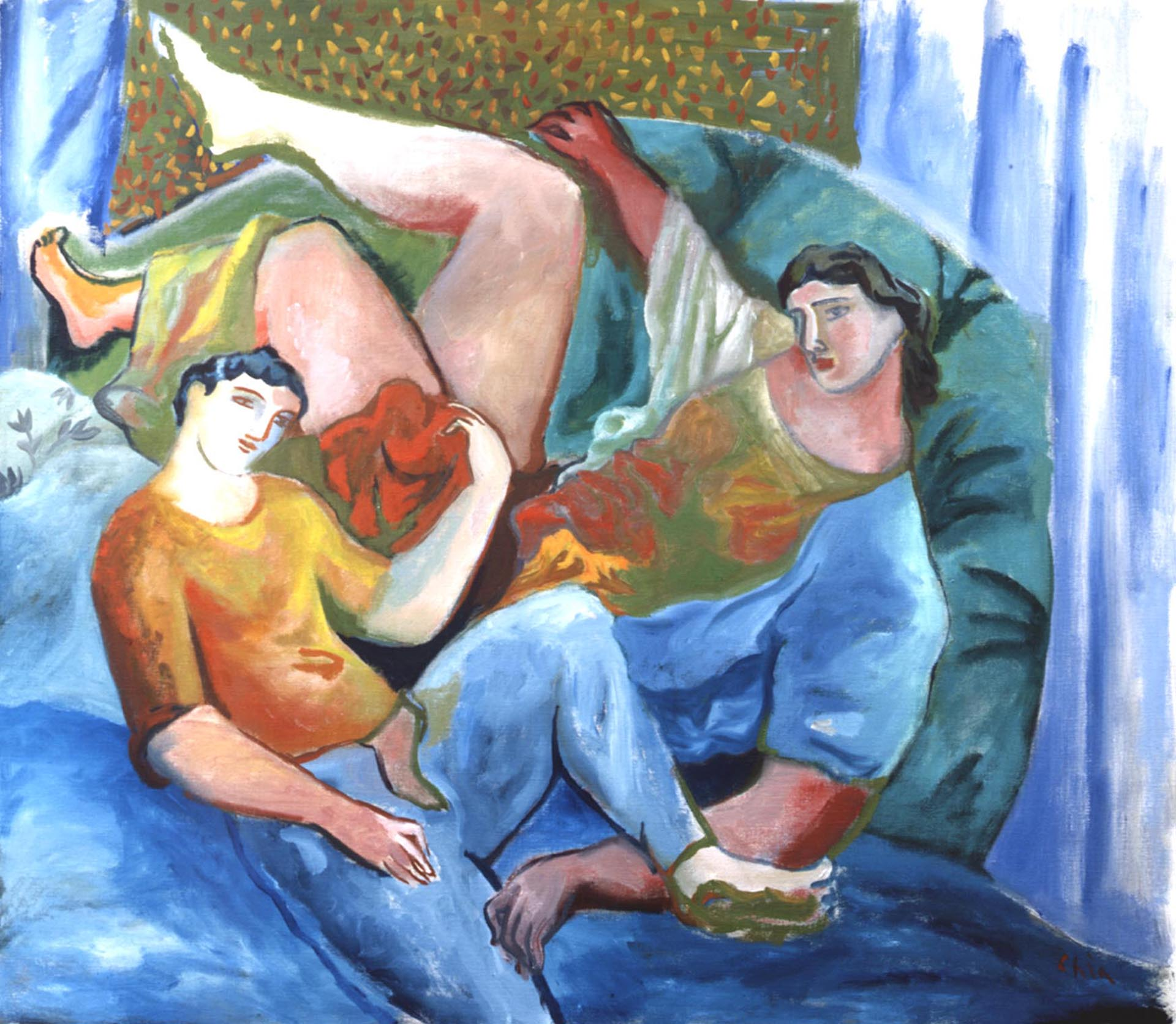 Chia_Couple-at-rest_2006_160x180-cm