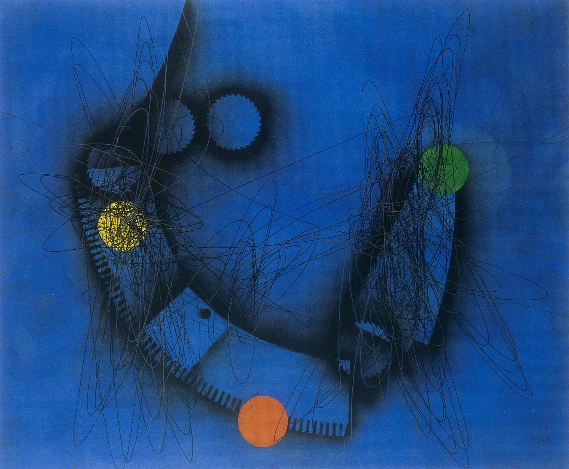 Crippa, Concetto spaziale, 1950, 130x162 cm