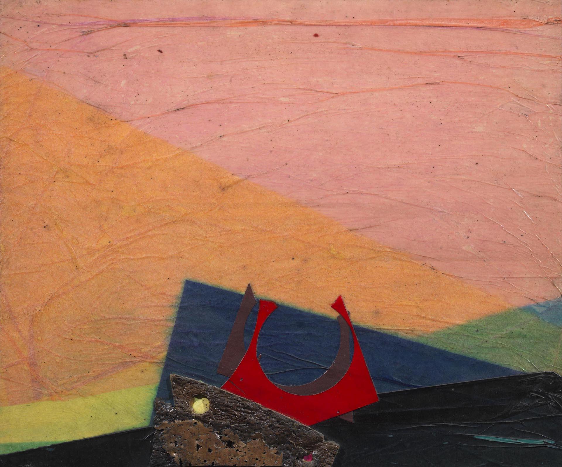 Crippa, Sul mare, 1971, 54x65 cm