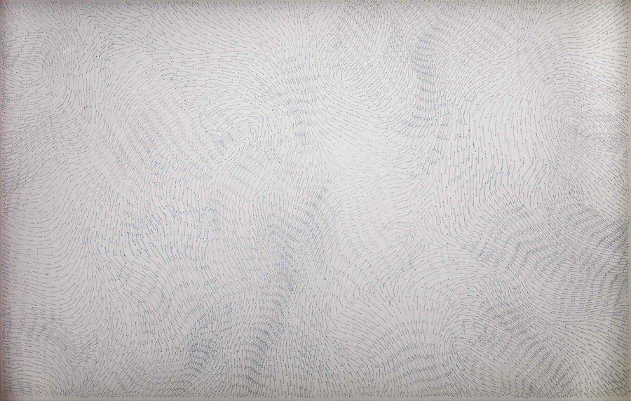 Dadamaino, Passo dopo passo, 1988, 70x100 cm