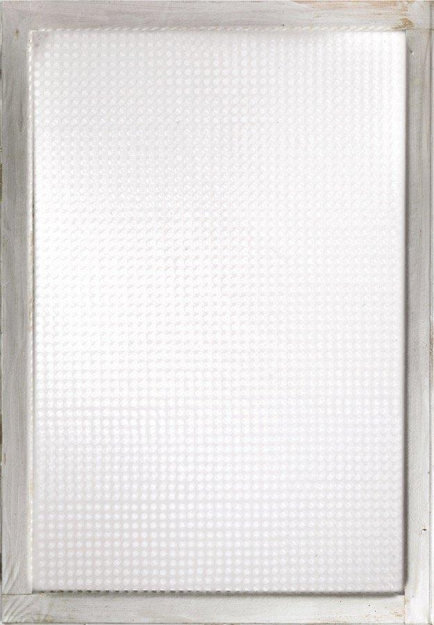 Dadamaino, Volume a moduli sfasati, 1960, 100x70 cm