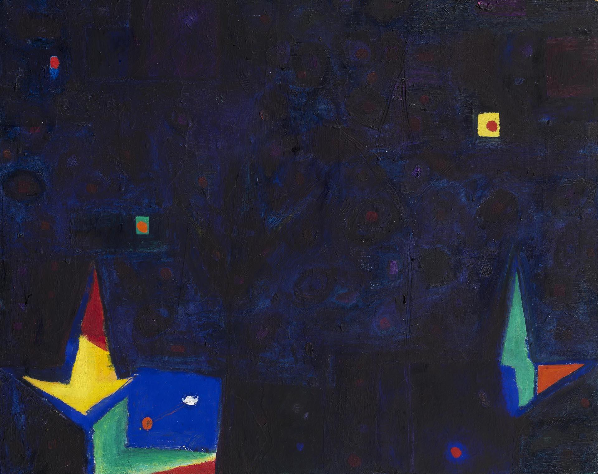 De Maria, 2 Fiori 2 Occhi, 1985, 40x50.3 cm