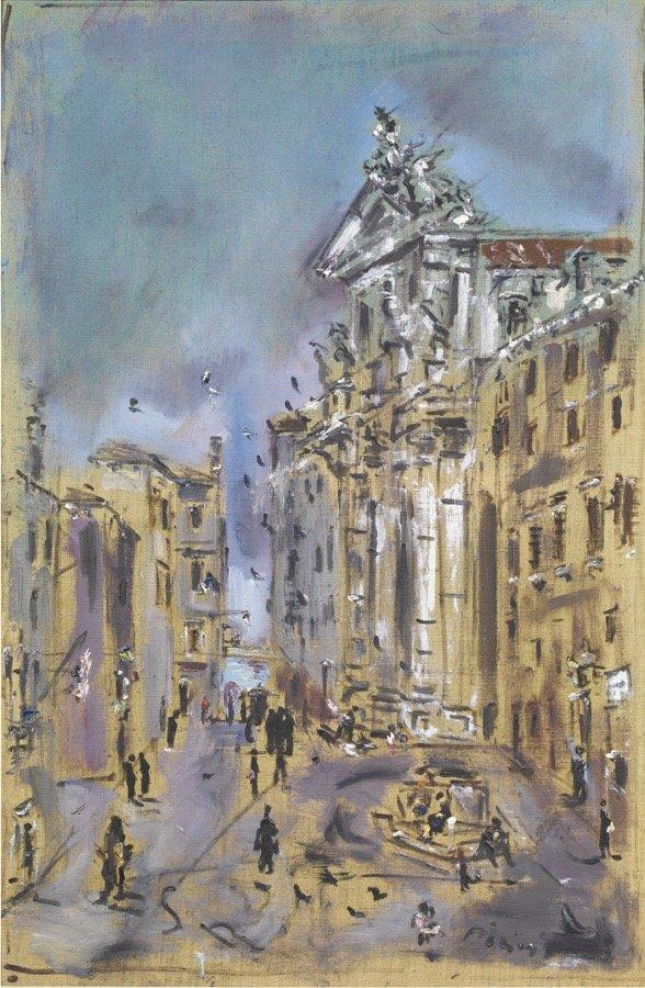 De Pisis, Venezia, Chiesa dei Gesuiti, 1946 ca., 102x65 cm