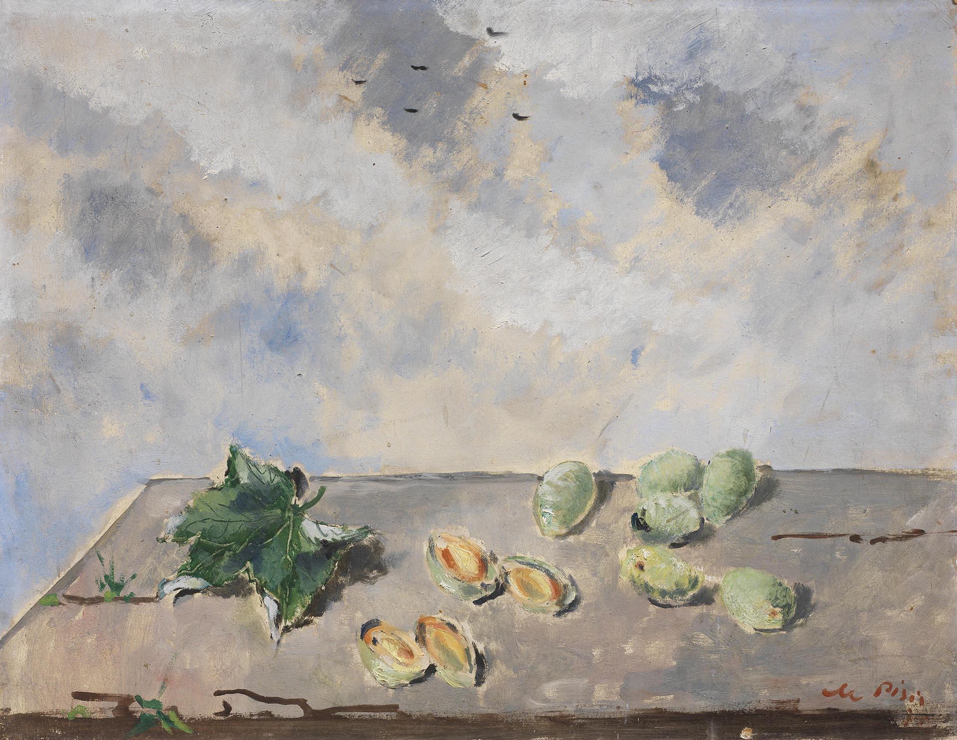 De Pisis, Natura morta con mandorle, 1933, 50.5x65.5 cm
