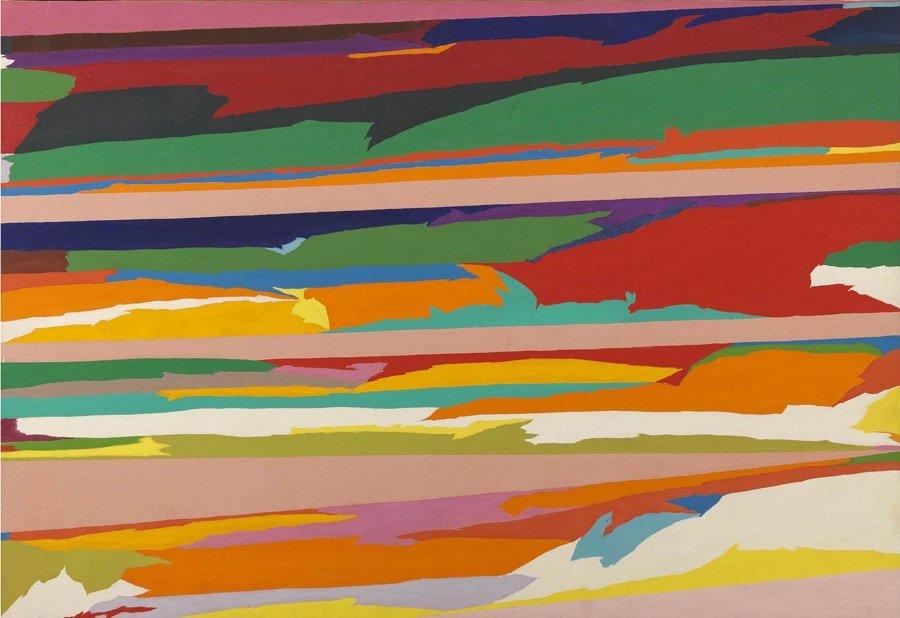 Dorazio, Le esteriora, 1970, 110x158,5 cm