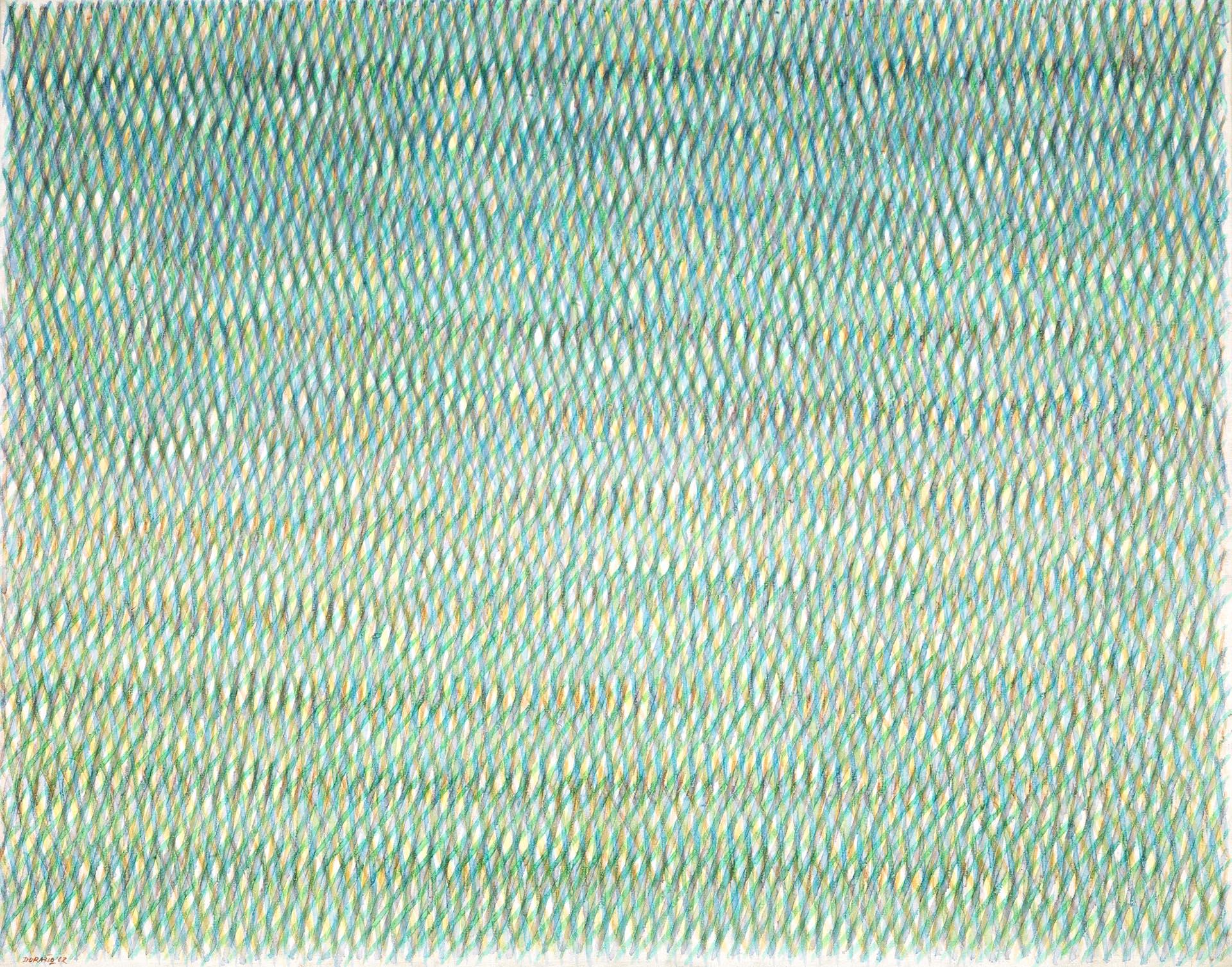 Dorazio, Jeux de distance, 1962, 81x100 cm
