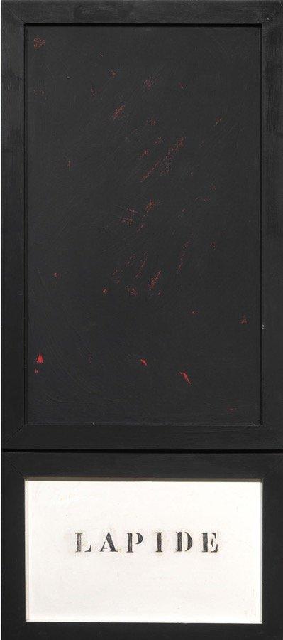 Festa, Lapide (Per Accetti), 1962, 130x57 cm