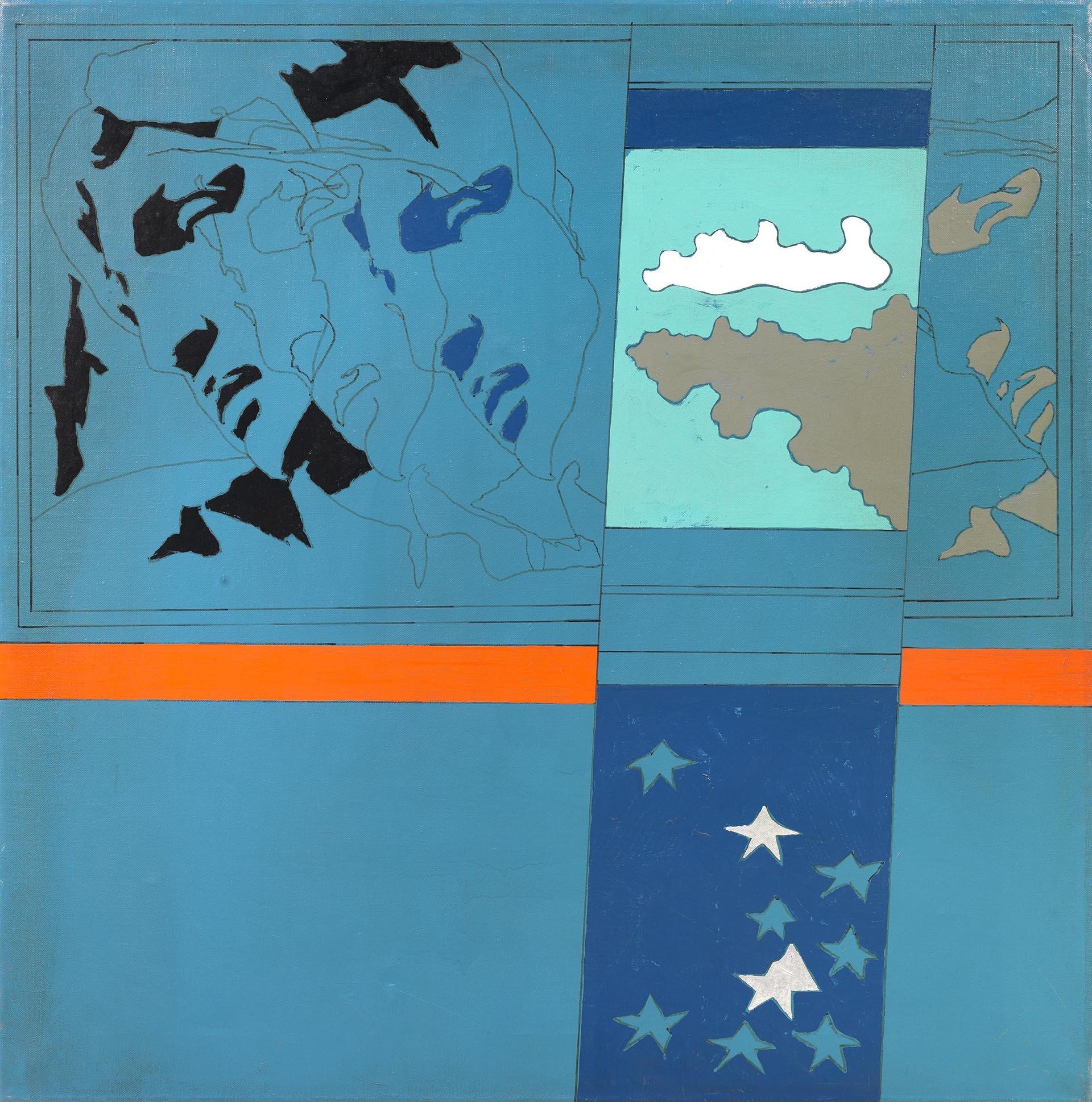 Festa, The strike of the stars Michelangelo according to Tano Festa n° 17, 1967, 92x91 cm