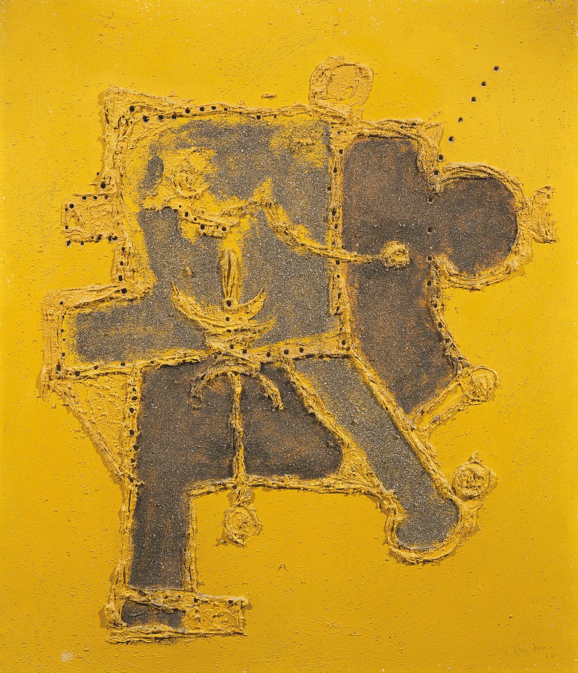 Fontana, Concetto spaziale, 1956, 80x70 cm