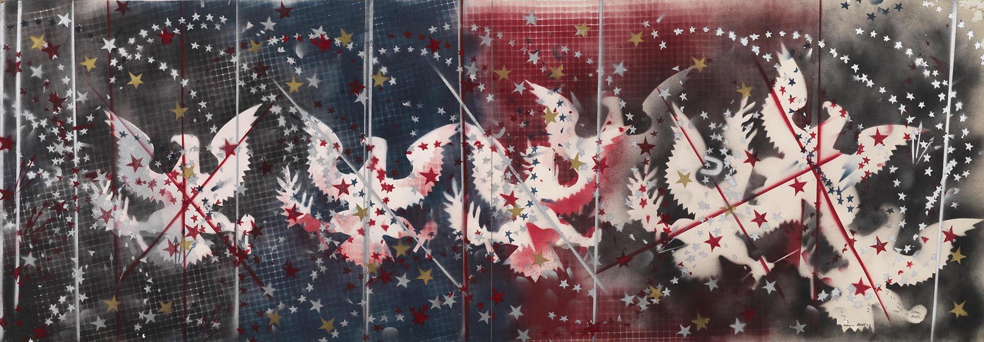 Angeli, Senza titolo, 1967, 70x199 cm