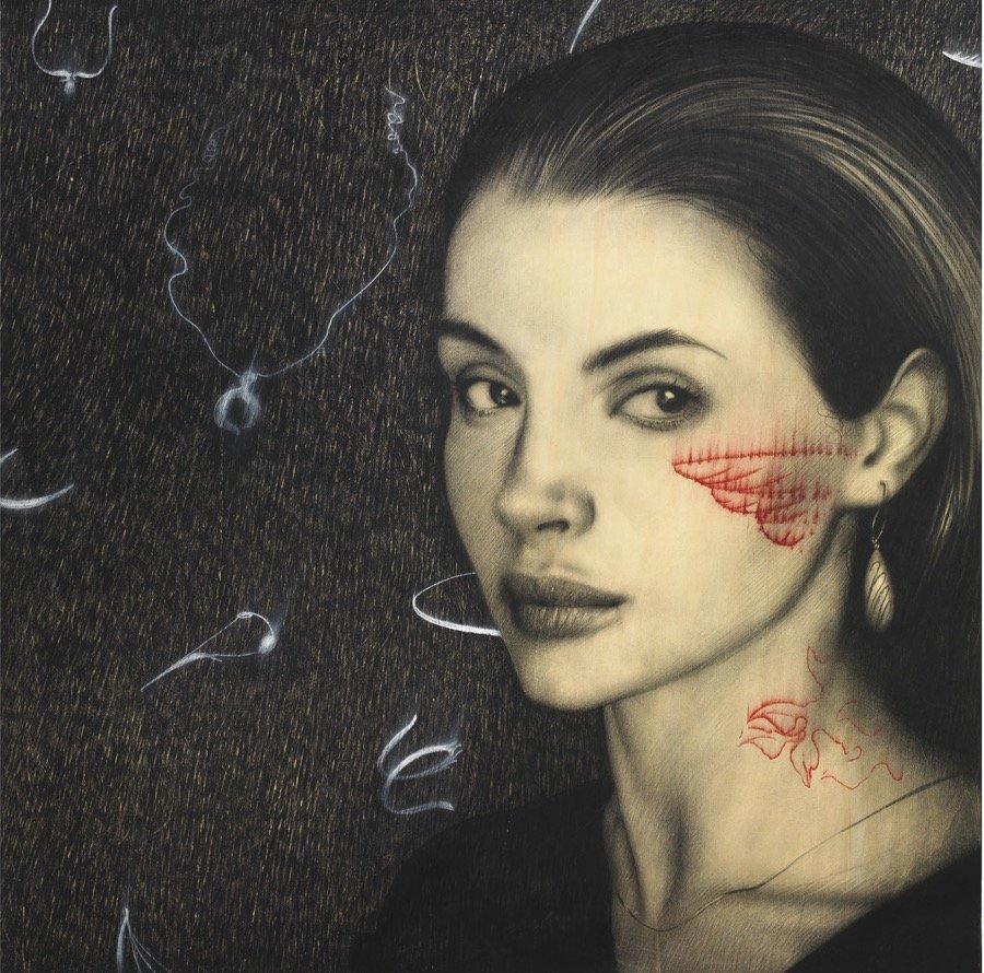 Galliani, Sui tuoi graffi, 2010, 100x100 cm