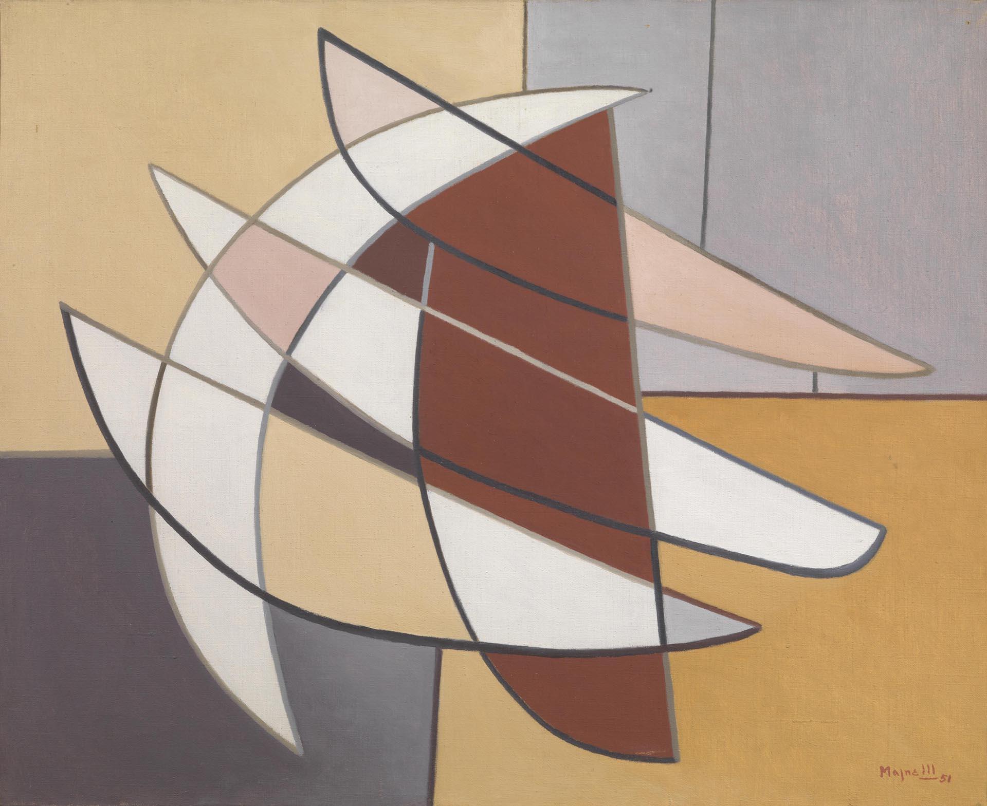 Magnelli, Forces dressées n° 2, 1951, 81x100 cm