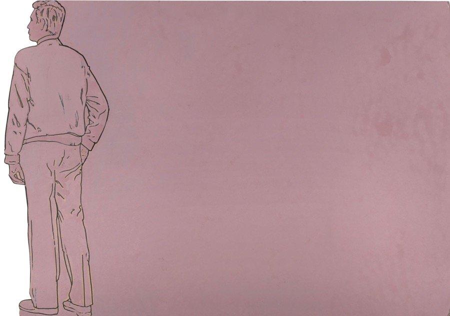 Mambor, Il riflettore, 1995, 72x102 cm