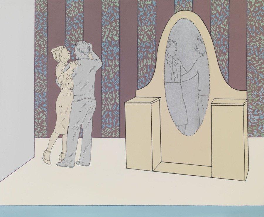 Mambor, Intorno al teatro. La scena del ballo, 2007, 90x100 cm